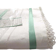 Vintage Never Used Keepsake Linen 2 Pillowcases - Ivory