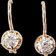 14 Karat Rose Gold Cubic Zirconia Earring Set