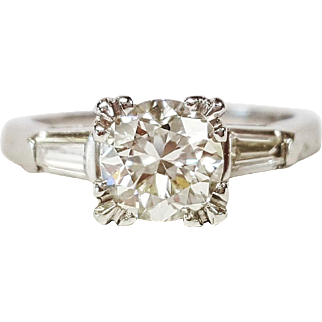 Art Deco Style Platinum Diamond Ring, Circa 1930
