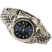 18 Karat White Gold and Stainless Steel Ladies Rolex