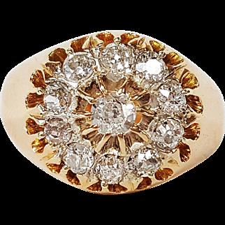 18 karat Rose Gold .80ct Old Mine Cut Diamond Ring