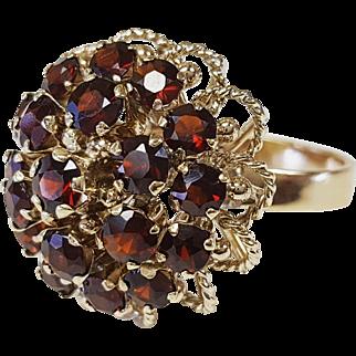 14kt Bohemian Garnet Ring
