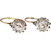 14kt Yellow Gold and Paste Earrings, Circa 1940-1960