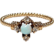 14kt Opal and Diamond Ring