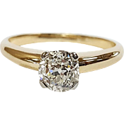 14kt Two-tone Diamond Solitaire Ring