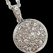 18kt Diamond Circle Pendant