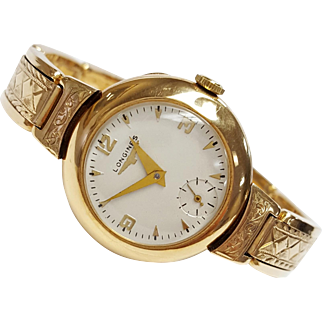 Longines 17 Jeweled Mechanical Wrist Watch in 14kt Rose
