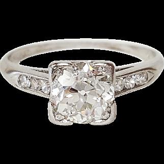 Art Deco PLAT Diamond Ring