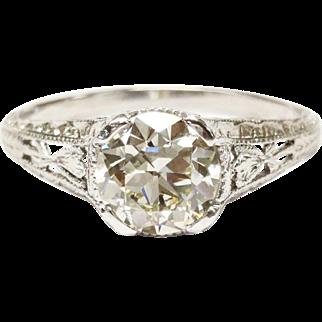 Edwardian Diamond Ring in Plat.