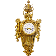 Elaborate 19th Century French Bronze Wall Clock
