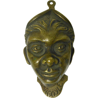 "Antique Bronze ""Gargoyle"" Door Knocker"