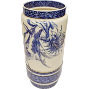 Doulton Lambeth Flow Blue Umbrella Stand