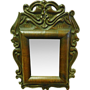 Figural Carved 18th Century Continental Mirror