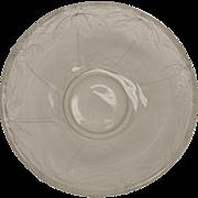 Barolac Czech Glass Bowl With Palm Tree Decoration