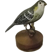 Folk Art Carved And Painted Female Goldfinch