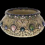 Amphora Czechoslovakia Jeweled Planter