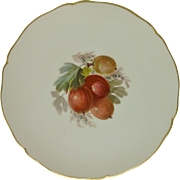 KPM Porcelain Plate Decorated With Gooseberries