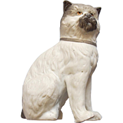 Antique Staffordshire Parian Figure Of A Cat