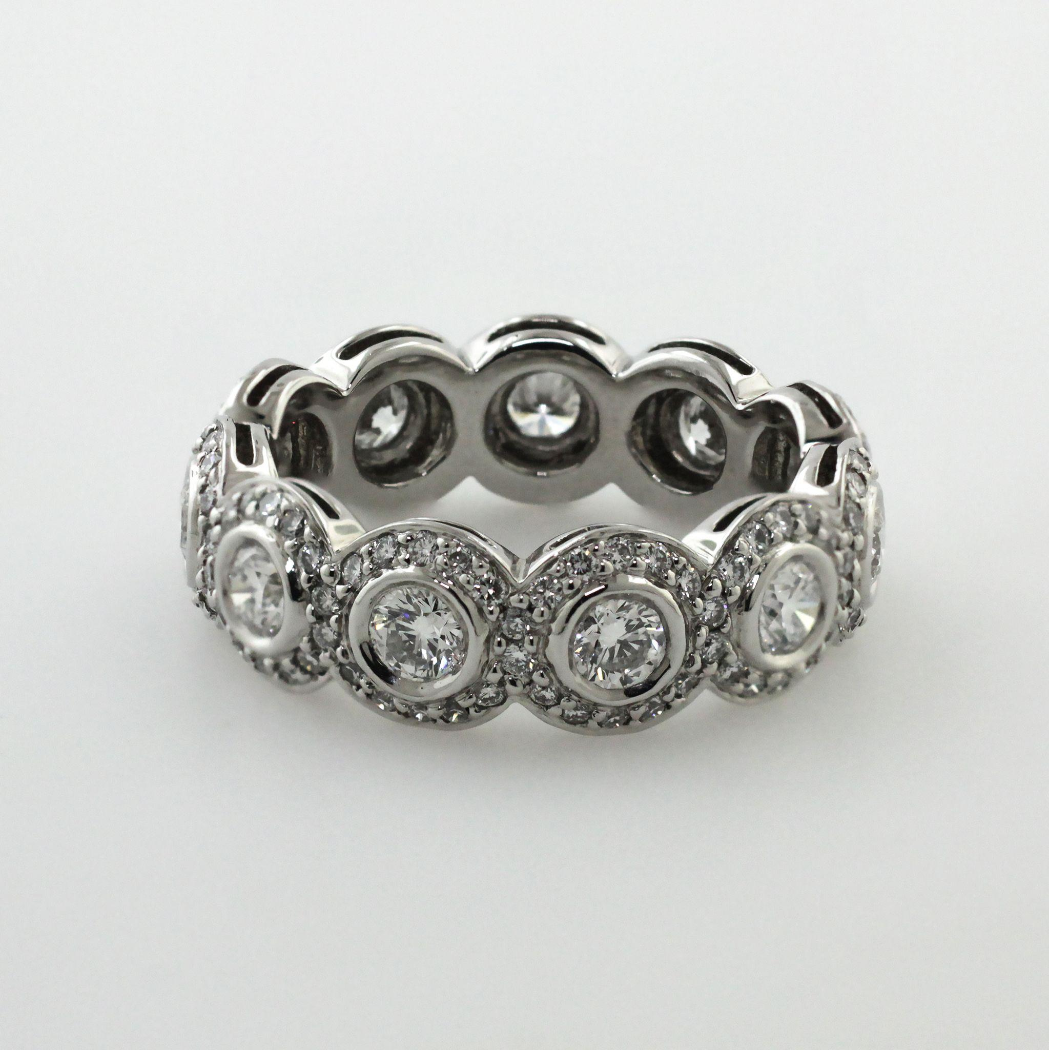RITANI PLATINUM DIAMOND ETERNITY WEDDING BAND ENDLESS LOVE COLLECTION SIZE 625