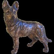 Antique Cast Iron Hubley German Shepherd Dog Door Stop