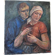 Oil on Canvas Portrait Paintings by Erwin Vollmer (Ca 1884-1973)