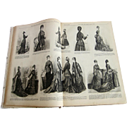 "Antique 1877 Illustrated Victorian Magazine ""The Queen; The Ladys Newspaper"""