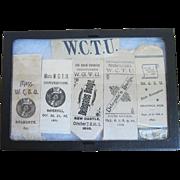 1890s Victorian WCTU Delegate Religious Pre Prohibition Ribbons