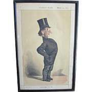 "Vintage Vanity Fair Prints, 1872 ""Statesmen No.109 ""A Home Ruler"", No. 177"