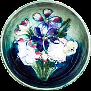 1930s William Moorcroft Glazed English Pottery Small Flower Dish