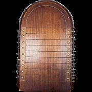 Antique English Wooden Board Game Shove Ha'penny Victorian Mahogany and Brass Board