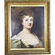 Antique Oil on Canvas Portrait Painting of Lady by Ethel Mortlake (1865 -1928)