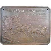 Antique Georgian English Royal Mail Wall Brass Plaque Sign Robert Gray & Sons