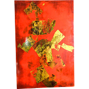 """Vintage Original Igor de Kansky Abstract Art Lacquer Painting ~ 24"""" by 16"""""""
