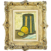 Original Signed Phillipe Marchand Still Life Oil on Canvas Painting