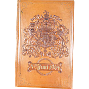 Antique 1904 House of Hanover Royal Leather blotter