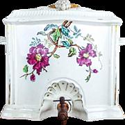 Antique English Ceramic Water Wine Dispenser E Hughes & Co Wrexham 1890's