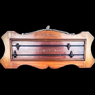 Antique Mahogany E J Riley Ltd Billiards Snooker Scoreboard Accrington English Antiques