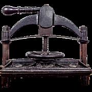 Antique Cast Iron Book Copying Press by Patrick Ritchie, Edinburgh