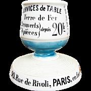 Vintage French Ceramic Match Holder Striker for Aux Lions de Faience