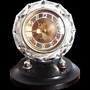 Russian Art Deco Style Glass Bakelite Mantel Clock Maak Majak