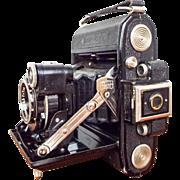 Vintage 1934 Zeiss Super Ikonta A 530 Camera Tessar f/7 Tessar 1:3.5 w/ Case