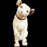 Vintage Chalkware Nipper Dog Sculpture Victor Phonograph Advertising