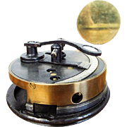Antique Nautical Stanley Brass Pocket Sextant Marine Maritime Box Case