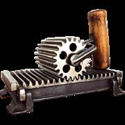 Antique Victorian Fluting Iron American Machine Co Fluter Crimper Pleater Tool