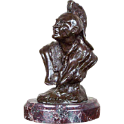 """My Bronze Indian"" Bronze Sculpture Signed by James P Regimbal"