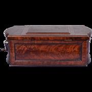 Antique C Paillard & Co. Music Box Mahogany Inlay