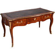 French Antique Louis XV Period Bureau Plat (1700's Library Table/Desk)