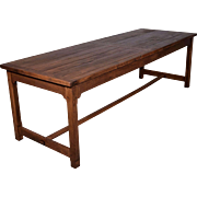 Vintage French Farm/Dining Table/Desk in Solid Oak