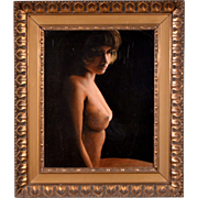 Original Oil Painting Erotic Nude Woman