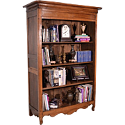 Louis XV Antique French Bookcase Provincial Cherry Wood